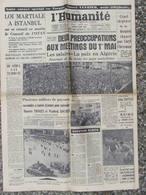 L'Humanité - (2 Mai 1960) Loi Martiale Istanbul - Caryl Chessman - Pont De La Roche Bernard - Travail Des Femmes - Journaux - Quotidiens