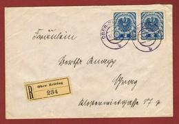 Reco Inland - Brief Ober Zeiring 1921  4 Kronen - 1918-1945 1st Republic