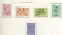 PIA - BEL -  1966 - Pro Opera Nazionale Antitubercolare - Giochi Di Bambini -  (Yv 1399-1403) - Giochi