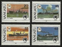 VANUATU 1988 SHIPS AUSTRALIAN BICENTENARY SET MNH - Vanuatu (1980-...)