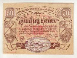 Gutschein Ottenschlag 1921 - 50 Heller - 2 Scans Recto-verso - Oesterreich