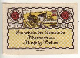 Gutschein Piperbach 1920 - 50 Heller - 2 Scans Recto-verso - Oesterreich