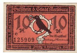 Gutschein Merleburg 1921 - 10 Pfennig - 2 Scans Recto-verso - Oesterreich
