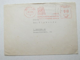 1965 , BERLIN - FDP ,klarer Firmen Freistempel Auf Brief - Berlin (West)
