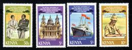 KENYA Mariage Prince Charles Lady Diana  Neufs Sans Charnière N° Yv 191 / 194 - Kenya (1963-...)