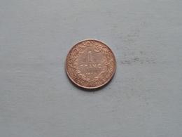 1912 FR - 1 Franc / KM 72 ( Uncleaned - For Grade, Please See Photo ) ! - 1909-1934: Albert I