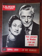 "Revue ""le Soir Illustré"" N° 1369 / Les Windsor - Sophia Loren - Onassis - Anna Magnani - Victor Francen... - Informations Générales"