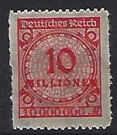 Germany 1922-23 (**) MNH  Mi.318 B P - Allemagne