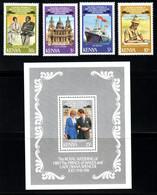 KENYA Mariage Prince Charles Lady Diana  Neufs Sans Charnière N° Yv 191 / 194 + BF 15 - Kenya (1963-...)