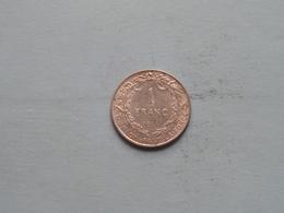 1914 FR - 1 Franc / KM 72 ( Uncleaned - For Grade, Please See Photo ) ! - 1909-1934: Albert I