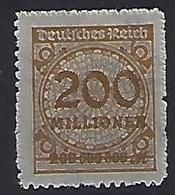 Germany 1922-23 (**) MNH  Mi.323 B P - Allemagne