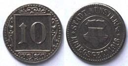 Münster Westfalen 10 Pfennig Notgeld/Kriegsgeld 1918 Eisen Bfr.  (21955 - [ 2] 1871-1918: Deutsches Kaiserreich