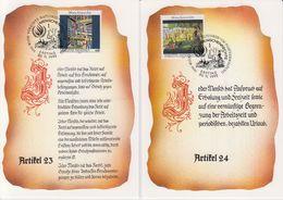 UNO Vienna 1992 Human Rights 2 Maxicards (40155) - Maximumkaarten