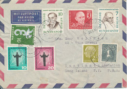 Germany Air Mail Cover With Bund And Berlin Stamps Sent To USA Rastatt 28-1-1959 - [7] Federal Republic