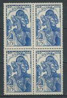 GUINÉE  1937 . N° 141 En Bloc De Quatre. Neuf ** (MNH) - French Guinea (1892-1944)