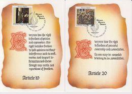 UNO New York 1992 Human Rights 2 Maxicards (40156) - New York - Hoofdkwartier Van De VN