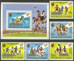 Soccer Football Niger #814/8 + Bl 39 1982 World Cup In Spain MNH ** - Wereldkampioenschap