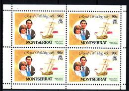 MONTSERRAT  Mariage Prince Charles Lady Diana  Neufs Sans Charnière N° Yv  466 - Montserrat