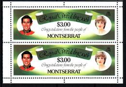 MONTSERRAT  Mariage Prince Charles Lady Diana  Neufs Sans Charnière N° Yv  470 - Montserrat