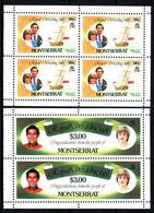MONTSERRAT  Mariage Prince Charles Lady Diana  Neufs Sans Charnière N° Yv 466 +  470 - Montserrat