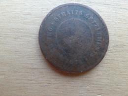 Straits Settlements  1  Cent  1874  Km 9 - Monnaies
