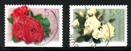 NORVEGE. N°1397-8 Oblitérés De 2002. Roses. - Roses