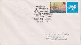 Argentina 1976 Muestra Filatelica Semana De La Antartida Argentina Cover (40160) - Postzegels