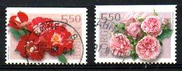 NORVEGE. N°1346-7 Oblitérés De 2001. Roses. - Roses