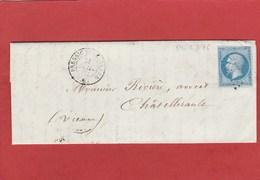 Indre Et Loire - Pressigny Le Grand - PC 2576 Sur N°14 - LAC De Juillet 1862 (Malardier Notaire) - 1849-1876: Classic Period