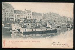 GENT =  SUGG 167 = LE CANAL DE BRUGES II . DEPART DE LA BARGE DE BRUGES - Gent