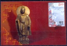 RELIGIONS-BUDDHISM- 2550 YEARS OF MAHAPARINIRVANA -MAXIMUM CARD #5- INDIA-2007- MC-64 - Buddhism