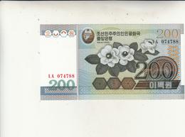 North Korea, 200 Won Banconota 2005  Unc. - Corea Del Nord