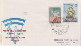 Argentina 1973 Antarctica Base  Destacamento Naval Orcadas Cover Ca 12 Ene 73 (40164) - Postzegels