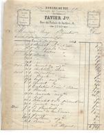 Facture 1874 / LYON / J. FAVIER / Dorure Au Feu / Vermeil Sur L'Orfèvrerie Et La Bijouterie - France