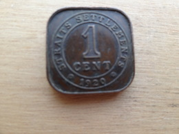 Straits Settlements  1  Cent  1920  Km 32 - Monnaies