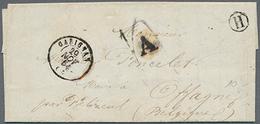 1854, Pra.-Faltbrief Mit Transitstempel France Par Bouillon Etc. Nach Belgien - Ohne Zuordnung