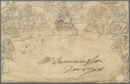 Beleg 1841, One Penny Mulready-Umschlag Echt Gelaufen, Mängel (Michel: U 1) - Ohne Zuordnung