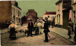 12 CPA  C1911 - édition O.S.B. SERIE 20  Complet LITHO Attelage De Chiens, LAITIERES Belges Transport Canine - Dogs