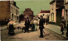 12 CPA  C1911 - édition O.S.B. SERIE 20  Complet LITHO Attelage De Chiens, LAITIERES Belges Transport Canine - Honden