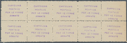 **/Paar 1941, Dniepropetrowsk, Spedizione Italiano In Russia, Etiketten Mit Violettem Aufdruck Cartolina/Poxtale/Per Le  - Briefmarken