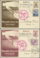 Beleg 1936, Olympiafahrt Auf  15 Pf. Olympia-Ganzsache Mit ZuF 40 Pf. Springreiter, Si. 75.- - Briefmarken