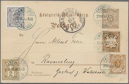 Beleg 1898, 3 Pf. Ziffer GA-Karte Mit ZuF Der 4 Anderen Bodensee-Anrainerstaaten  Bayern, Dt.Reich, Österreich U. Schwei - Briefmarken