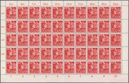 ** 1945, 12+38 Pf. SA U.SS In Postfr.Bogenteilen Zu Je 100 Marken,Mi.8000.- (Michel: 909-10(100)) - Briefmarken