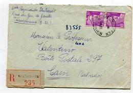 BAS RHIN De WESTHOFFEN   Env. Recom. De    1948    Avec Dateur  A  6 - Marcophilie (Lettres)
