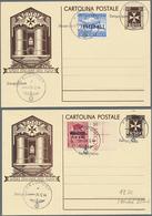Beleg 1944, Rhodos LP-Zulassungsmarke Mit Aufdruck Inselpost Und Weihnachtsmarke Sauber Gest. Auf 2 Rodi-Ganzsachenkarte - Briefmarken