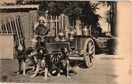 Printer H. N. à A. Nr 103 ( Allemagne) 1 CPA  C1900 -  3 Dogs Cart LATIERE  Flamand PARFAIT Transport Canine - Hunde