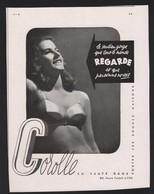 Publicité Papier 1946 Carolle Lyon Sous Vetements Pin Up Soutien Gorge Lingerie Dos Meuble LEVITAN - Advertising