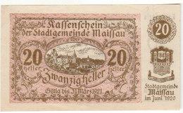 Gutschein Maissau 1921 - 20 Heller - 2 Scans Recto-verso - Oesterreich