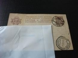CARTOLINA POSTALE LATVIJA LETTONIE LETTONIA ANNULLO ALSI  DESTINAZIONE FIUME 1928 - Lettonia