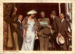 ALTES FOTO JOYEUSE ENTRÉE DU ROI ET DE LA REINE À LIÉGE 07.07.1935 CHOCOLAT L'AIGLON 19 Cm X 14 Cm Photo Bild König King - Repro's